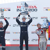 July 30-31:  Will Power, Simon Pagenaud and Carlos Munoz after The Honda Indy 200 at Mid-Ohio.