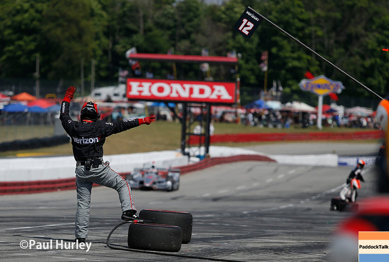 July 30-31:  Pit action during The Honda Indy 200 at Mid-Ohio.
