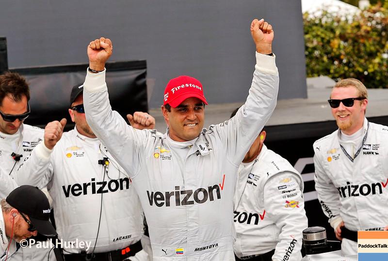 March 11-13:  Juan Pablo Montoya wins at the Firestone Grand Prix of St. Petersburg.