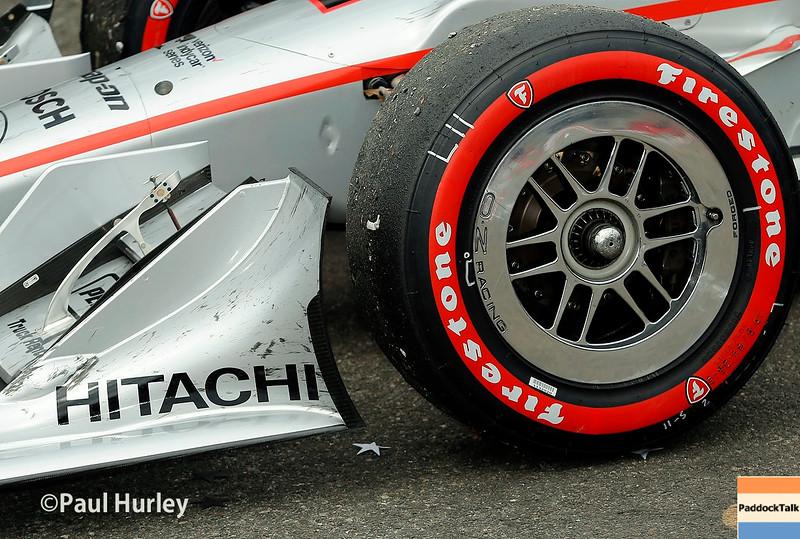 March 11-13:  Juan Pablo Montoya's car at the Firestone Grand Prix of St. Petersburg.