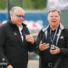 June 3-4: Honda and Chevrolet officials chatting at the Chevrolet Detroit Grand Prix Presented by Lear.