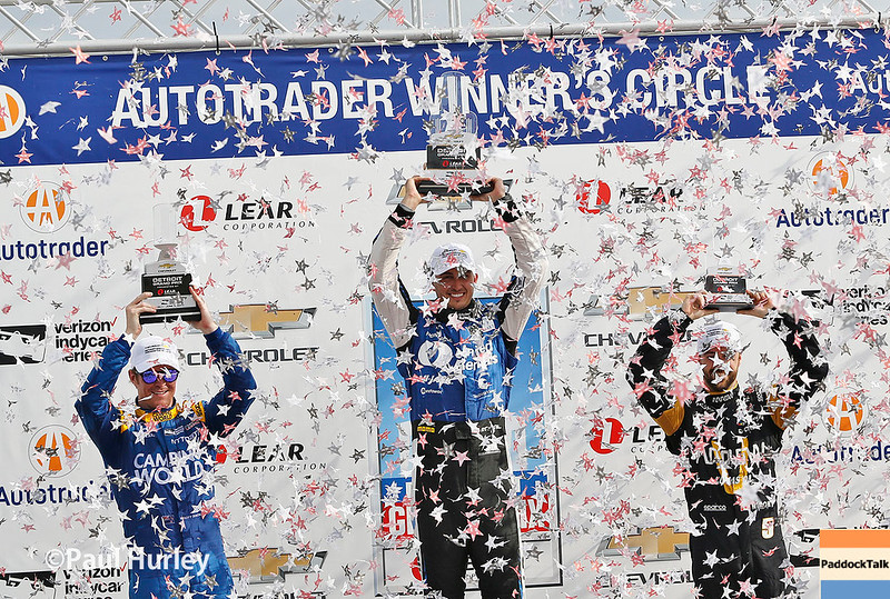 June 3-4: Victory Podium at the Chevrolet Detroit Grand Prix Presented by Lear.