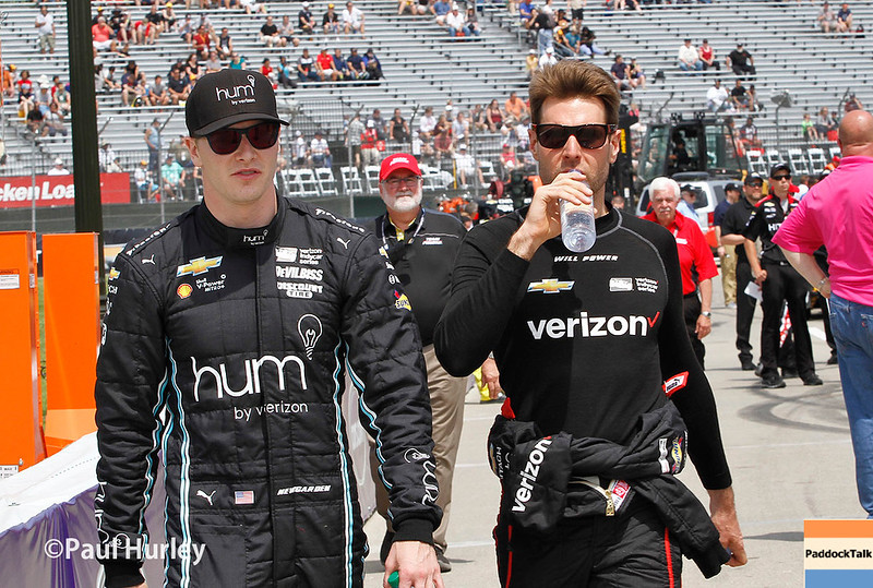 June 3-4:  Josef Newgarden and Will Power before the Chevrolet Detroit Grand Prix Presented by Lear.