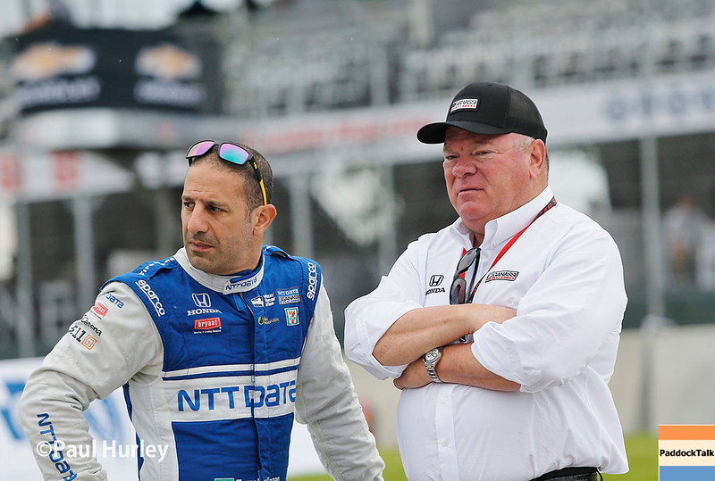 June 3-4: Tony Kanaan and Chip Ganassi at the Chevrolet Detroit Grand Prix Presented by Lear.