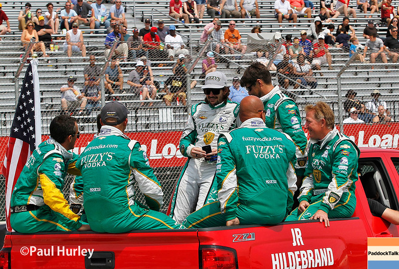 June 3-4:  JR Hildebrand and team before the Chevrolet Detroit Grand Prix Presented by Lear.