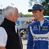 June 3-4: Roger Penske and Esteban Gutierrez at the Chevrolet Detroit Grand Prix Presented by Lear.