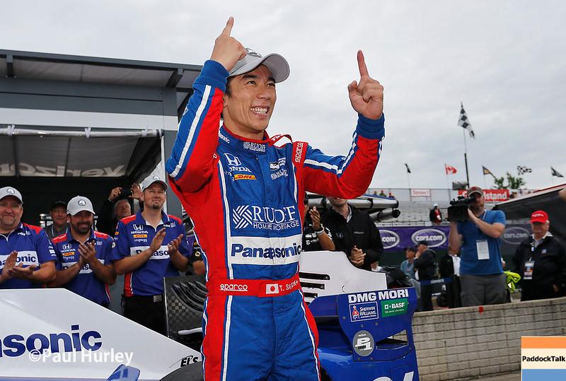 June 3-4: Takuma Sato wins the pole at the Chevrolet Detroit Grand Prix Presented by Lear.