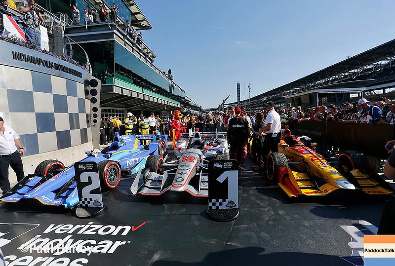 May 12-13: Top three finishing cars at the Grand Prix of Indianapolis.