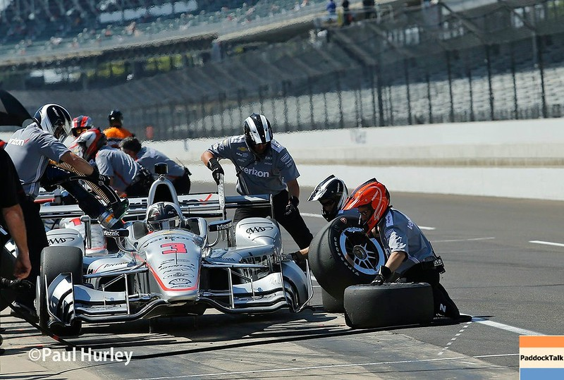 May 12-13: Helio Castroneves' pit stop at the Grand Prix of Indianapolis.