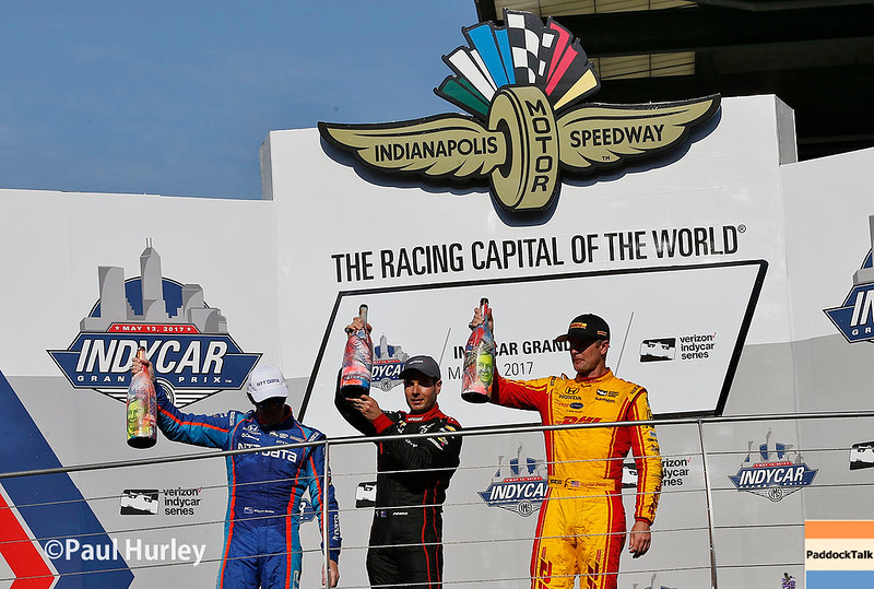 May 12-13: Victory Lane at the Grand Prix of Indianapolis.