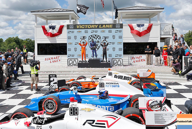 June 24-25: Victory lane at the Kohler Grand Prix of Road America.