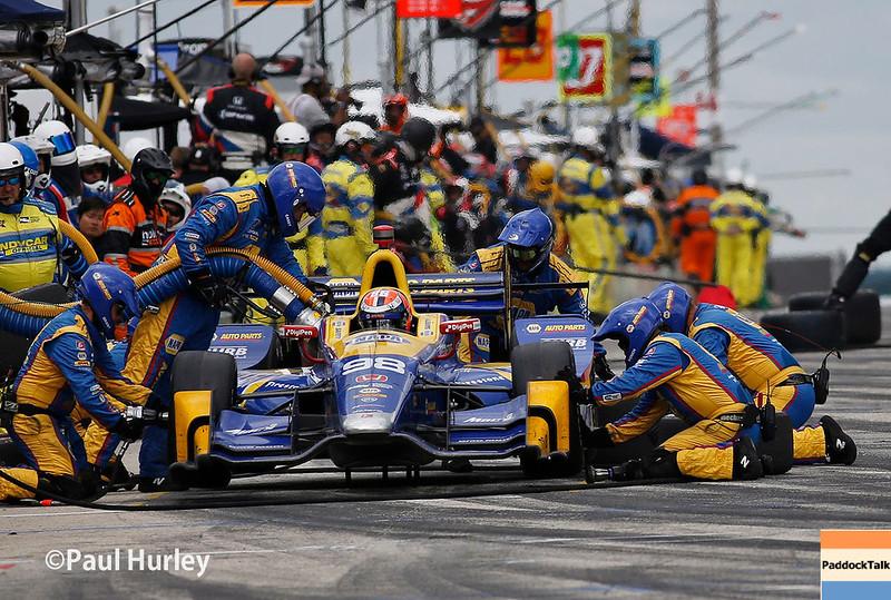 June 24-25: Alexander Rossi pit stop at the Kohler Grand Prix of Road America.