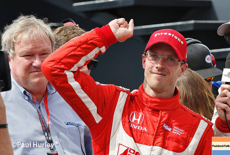 March 10-12: Dale Coyne and Sebastien Bourdais after winning the Firestone Grand Prix of St. Petersburg.