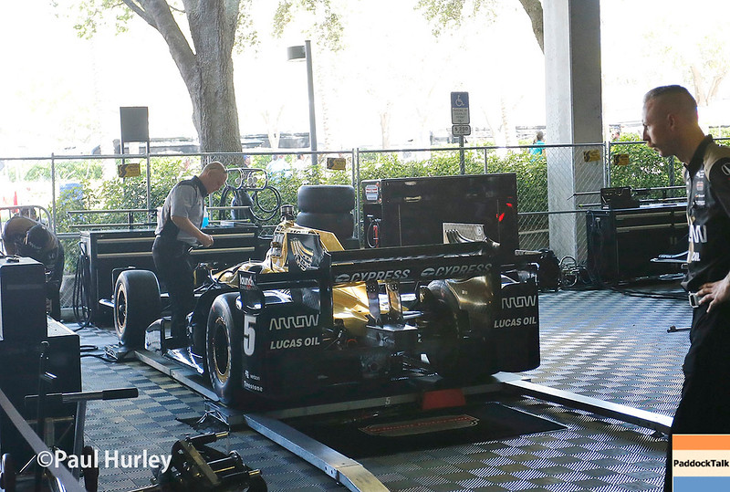 March 10-12: James Hinchcliffe's car at the Firestone Grand Prix of St. Petersburg.