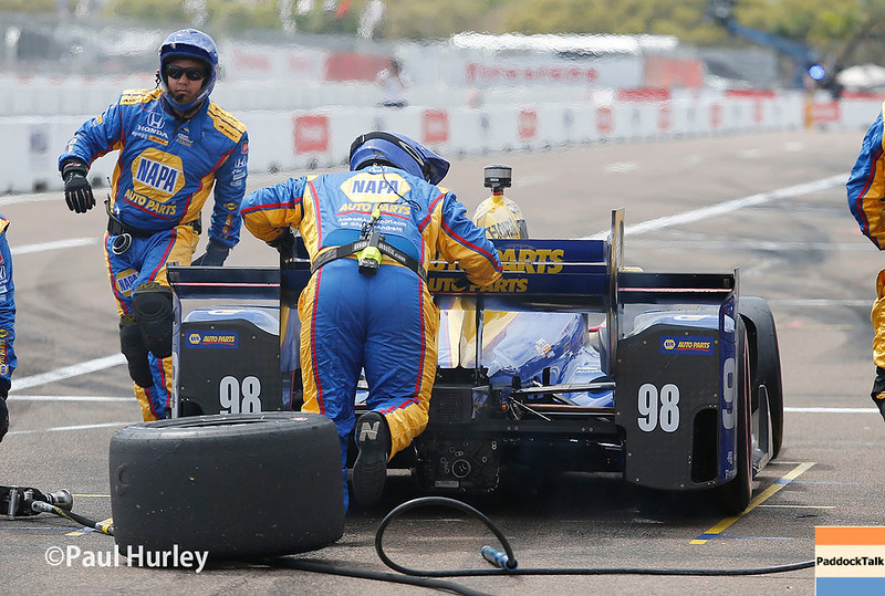 March 10-12: Alexander Rossi pit stop at the Firestone Grand Prix of St. Petersburg.