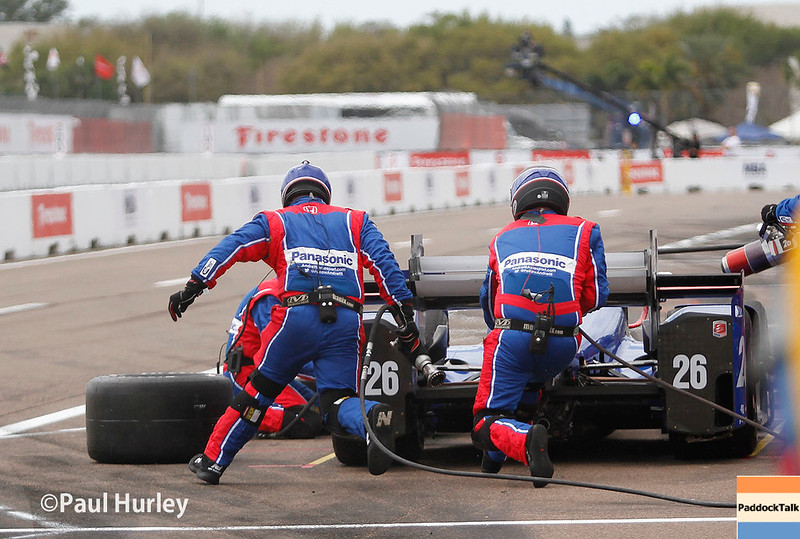 March 10-12:  Takuma Sato pit stop at the Firestone Grand Prix of St. Petersburg.