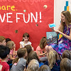 "IBM inventor Lisa DeLuca reads her book ""The Internet of Mysterious things"" to the kids in the Children's School on Thursday, June 29, 2017. PAULA OSPINA / STAFF PHOTOGRAPHER"