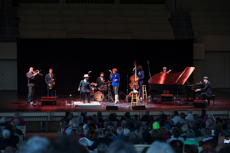 The Hot Sardines, an American jazz band, performed on Tuesday, June 27, 2017 in the Amphitheater. PAULA OSPINA / STAFF PHOTOGRAPHER