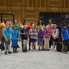 The Chautauqua Theater company and winners from the Young Playwrights Project pose after being presented with medals in Lenna Hall on Monday, June 19, 2017. PAULA OSPINA / STAFF PHOTOGRAPHER