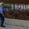 Chautauquan usher Gary O'Brien hand counts the number of attendees during the Sacred Song Service on Sunday, July 2, 2017 in the Amphitheater. PAULA OSPINA / STAFF PHOTOGRAPHER