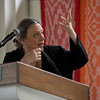 President of Middleburg College Laurie L. Patton gives a speech about interfaith on Wednesday, June 28, 2017 in Hall of Philosophy. PAULA OSPINA / STAFF PHOTOGRAPHER