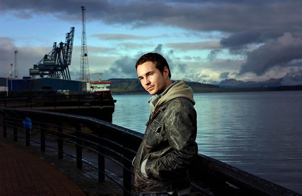 actor Martin Comptson, photographed in his home town of Greenock.