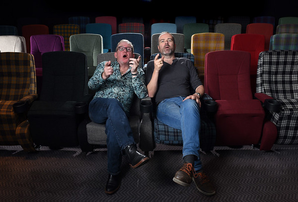 Stars of Still Game, Greg Hemphill and Ford Kiernan photographed at the Blythswood hotel in Glasgow.