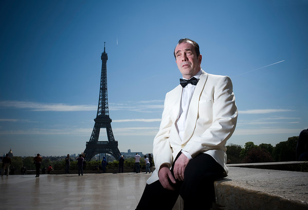 Pictured is Scottish actor Gavin Mitchell who is currently appearing in Casablanca at the historic Théâtre Déjazet in Paris.