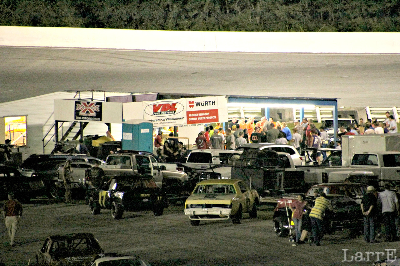 local drivers meeting in the backstretch infield.