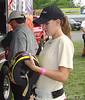 Gabi DiCarlo races #83 Great Clips car