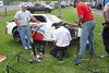 An Allison Legacey car gets repaired