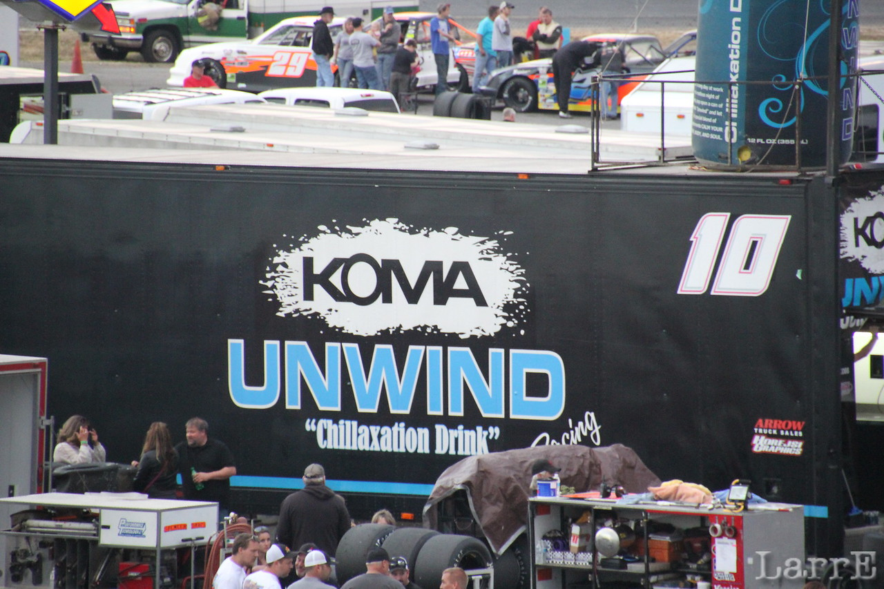 Koma Unwind is a delicious, healthy drink...and the sponsor of the touring modified series.