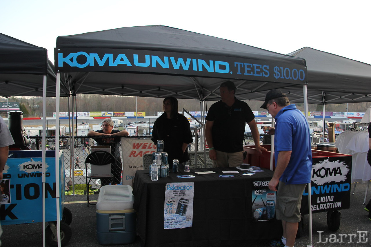 Koma Unwind is the drink company that is sponsor for the touring Modified series.