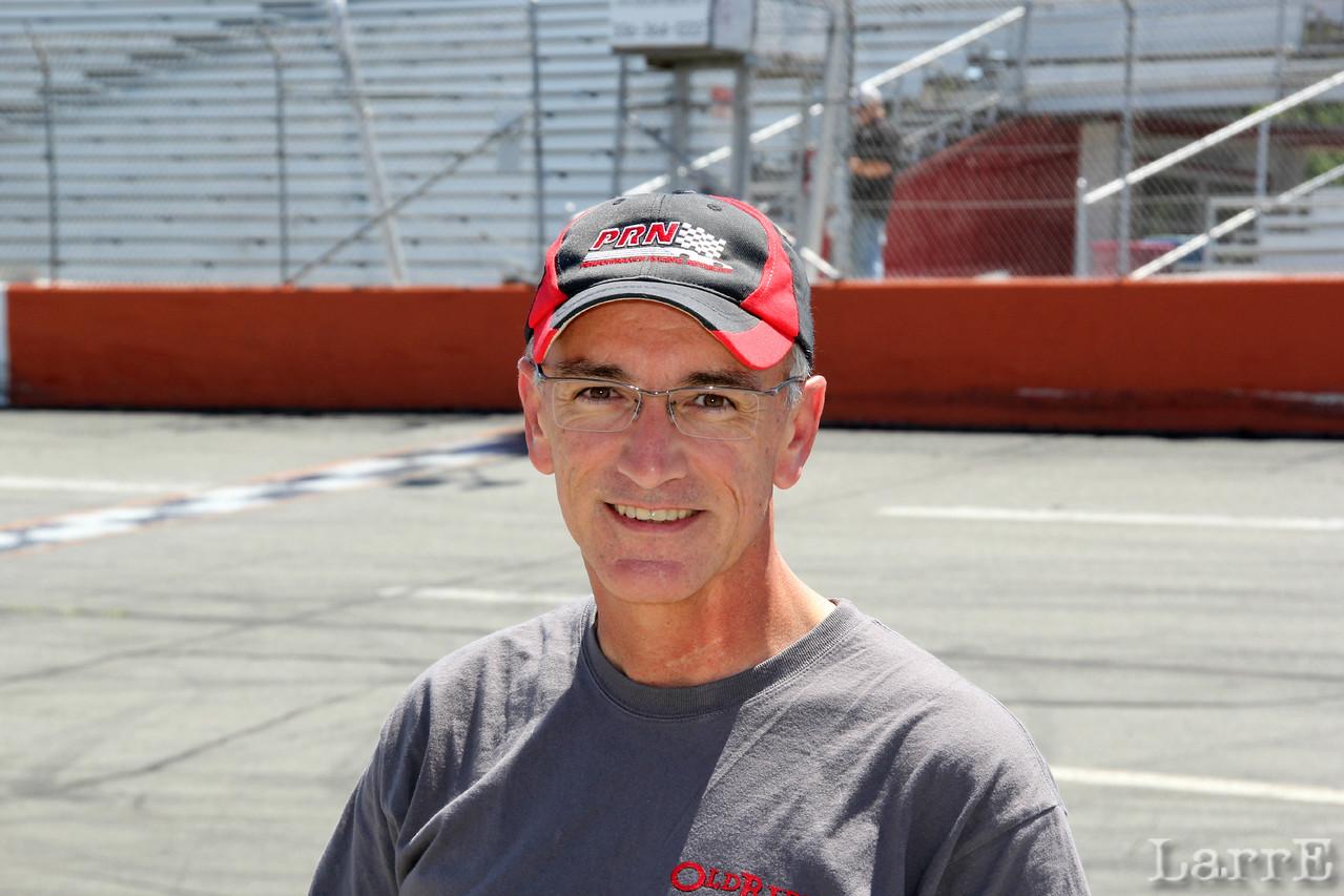 World famous announcer...Lenny Batycki visits Orange County Speedway.