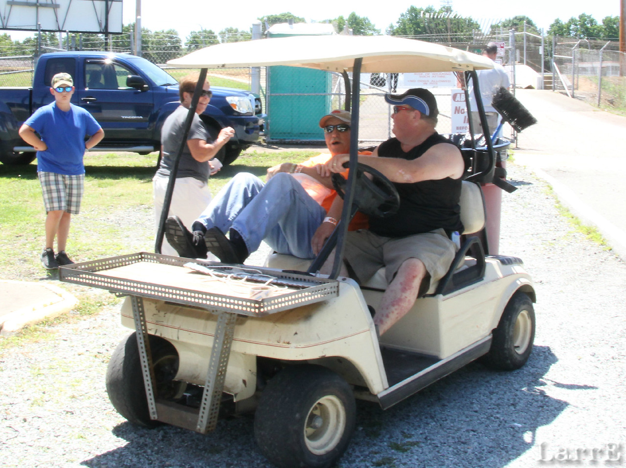 Why do they call them golf carts when they are always at a race track? And why do they call them workers when......better be careful I may want to come back here.