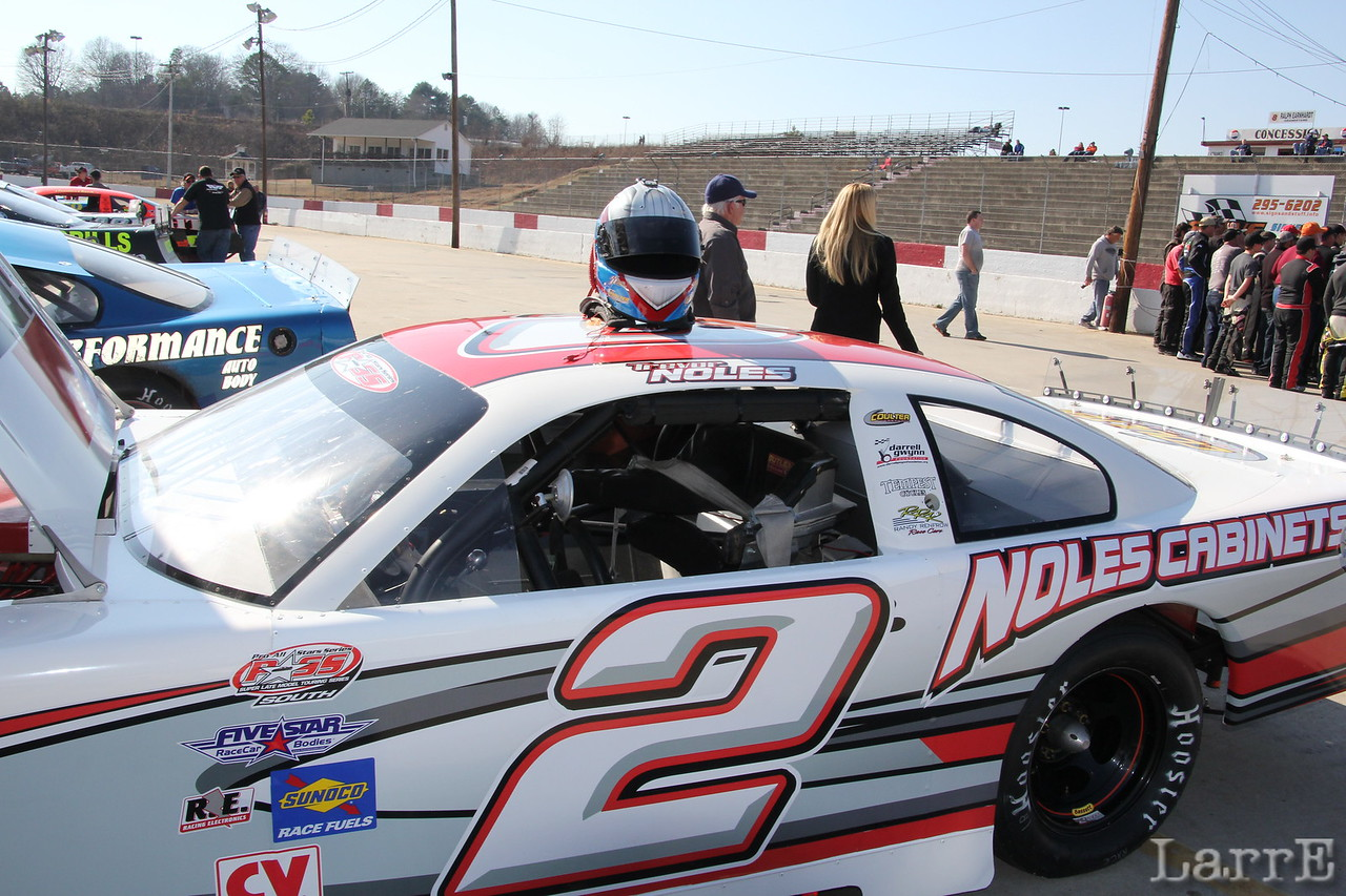 Trevor Noles  finished 28th in the first PASS series race of 2014 at Greenville-Pickens Speedway March 1