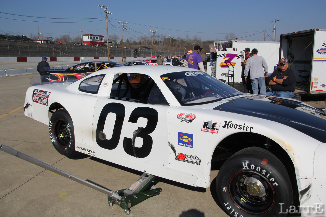 Kerry Lawrence was 2nd in the PASS Late Model race
