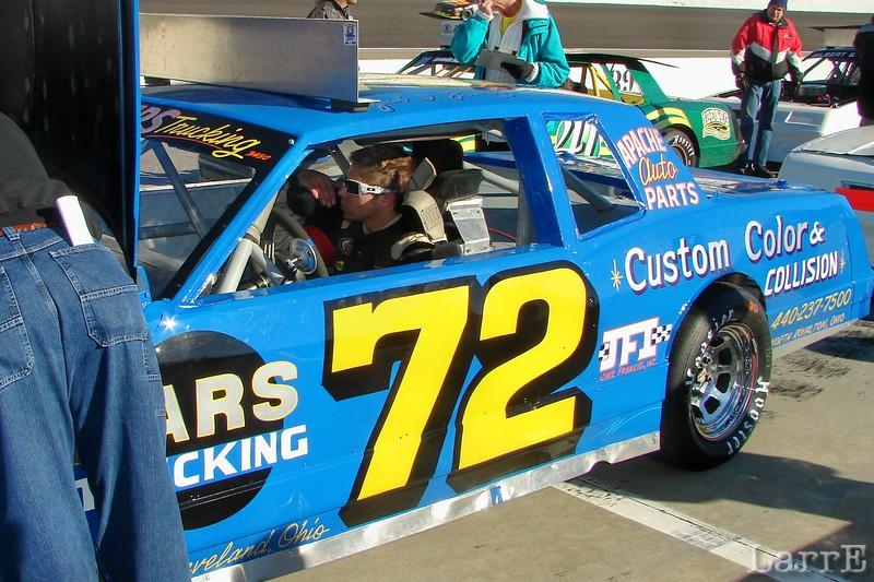 #72 Frank Oriti<br /> Hinckley, Ohio<br /> finished 29th