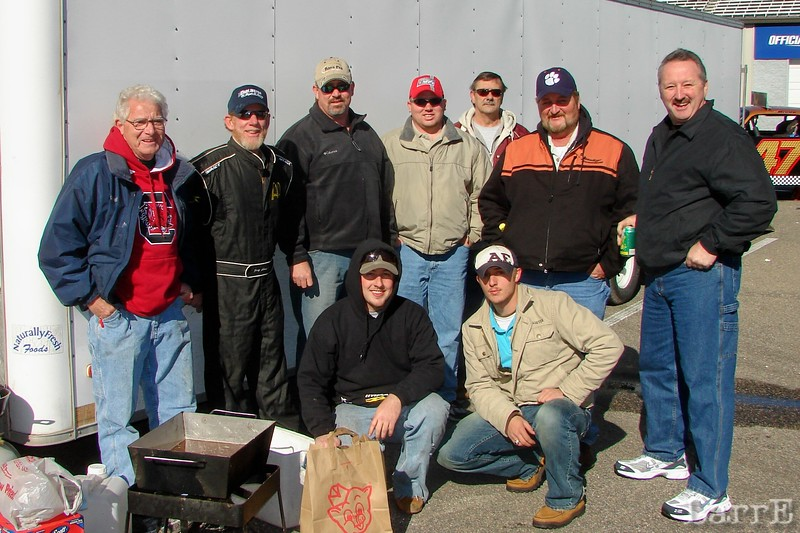 The #47 team gathers for lunch