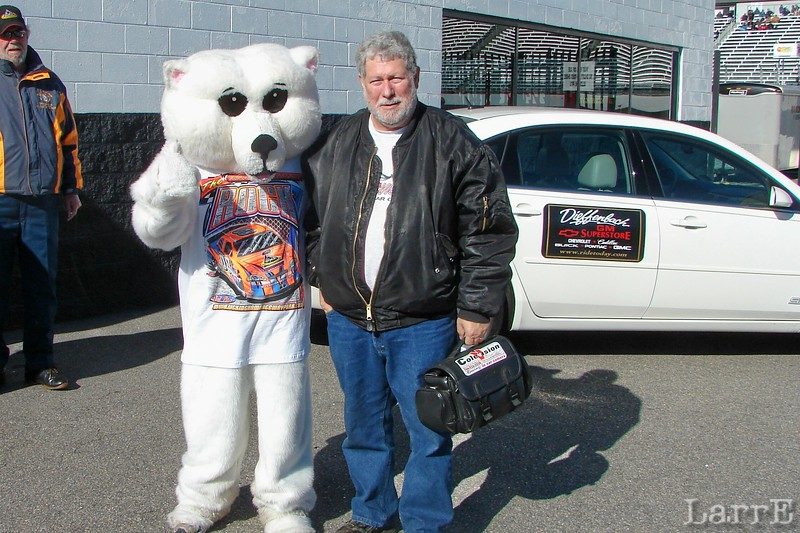 A big fuzzy wild animal...and a polar bear.