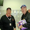 Andy Hillenburg, new owner of THE ROCK, and Larry Long Announcer for the Carolina Clash Series and at Fayetteville Speedway, NC.