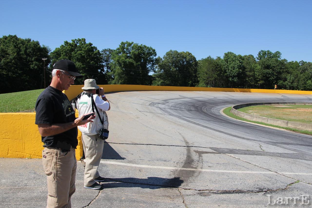 announcer Lenny Batycki and photographer John Davison came by for the UARA racing.