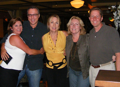 The first meeting of the 30-year reunion planning committee in late 2007.  At the dinner meeting in the Pavilion were Leslie Feducia Louvier, Jeff Bitetti, Rose, Katrin Hecht Bandhauer, and Bill Beamish