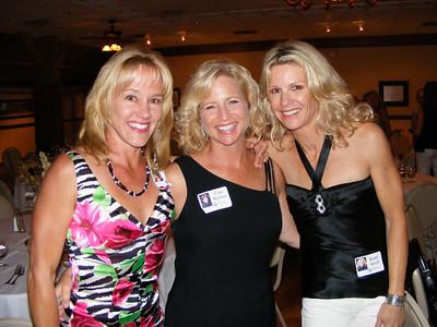 Former NHHS gymnasts: Sheryl Hehr Roman, Lisa Beckley, and Kerri Smull Moyer