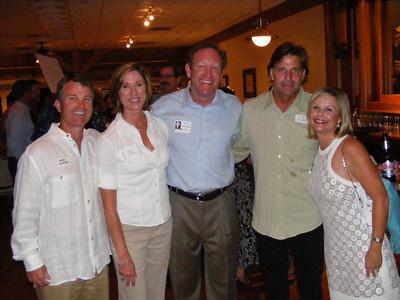 Alumni spouses Greg Skjonsby and Kimberly Bernatz, with Bob Bernatz, Mike Flinn, and Hanna Krasel Skjonsby