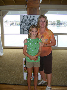 Core Reunion Planning Committee Volunteer Katrin Hecht Bandhauer with her daughter, Lorien, setting up at the Pavilion for the August 2nd event.  Katrin was also involved with the planning of our 10 and 20 year reunions!
