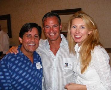 Motley classmates Jack Manciet, Paul Helfrich, with lovely alumni spouse, Gerrette Bitette