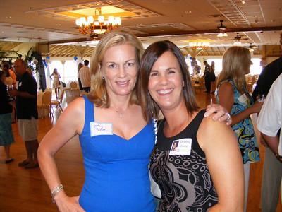 Classmates Stacy Barker McKenzie and Debbie Dunn Williamson