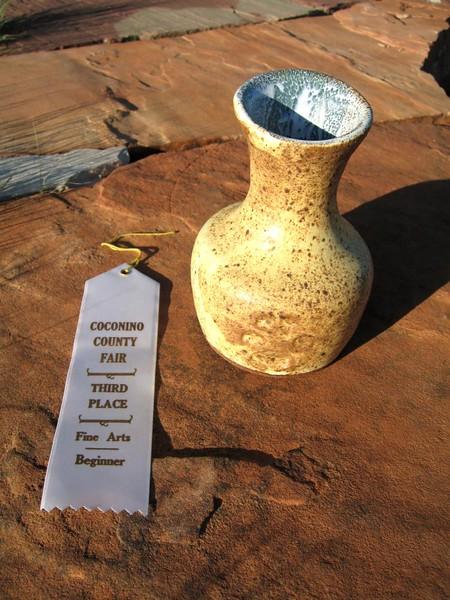 3rd Place, Coconino County Fair<br /> Birdmat glaze<br /> 2007