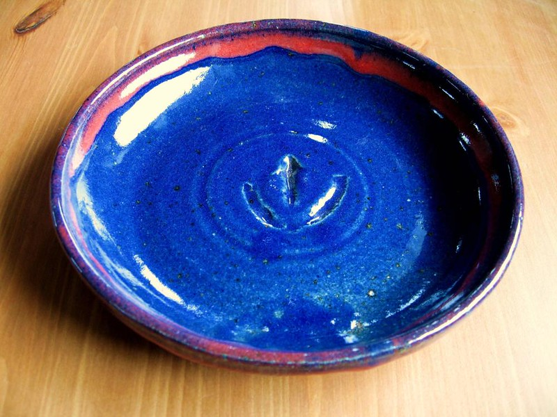 Red and Blue glazes<br /> 7 inches<br /> 2006